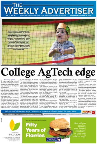 The Weekly Advertiser Wednesday October 24 2018 By The Weekly