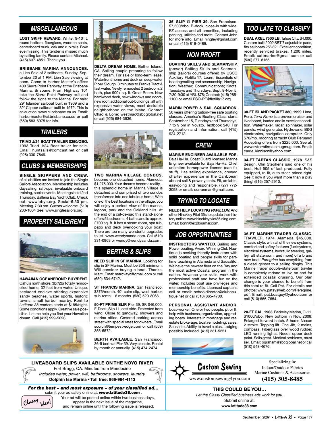 Latitude 38 September 2009