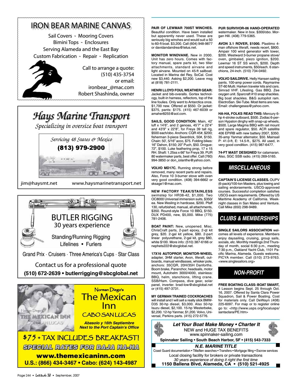 Latitude 38 September 2007 by Latitude 38 Media, LLC - issuu