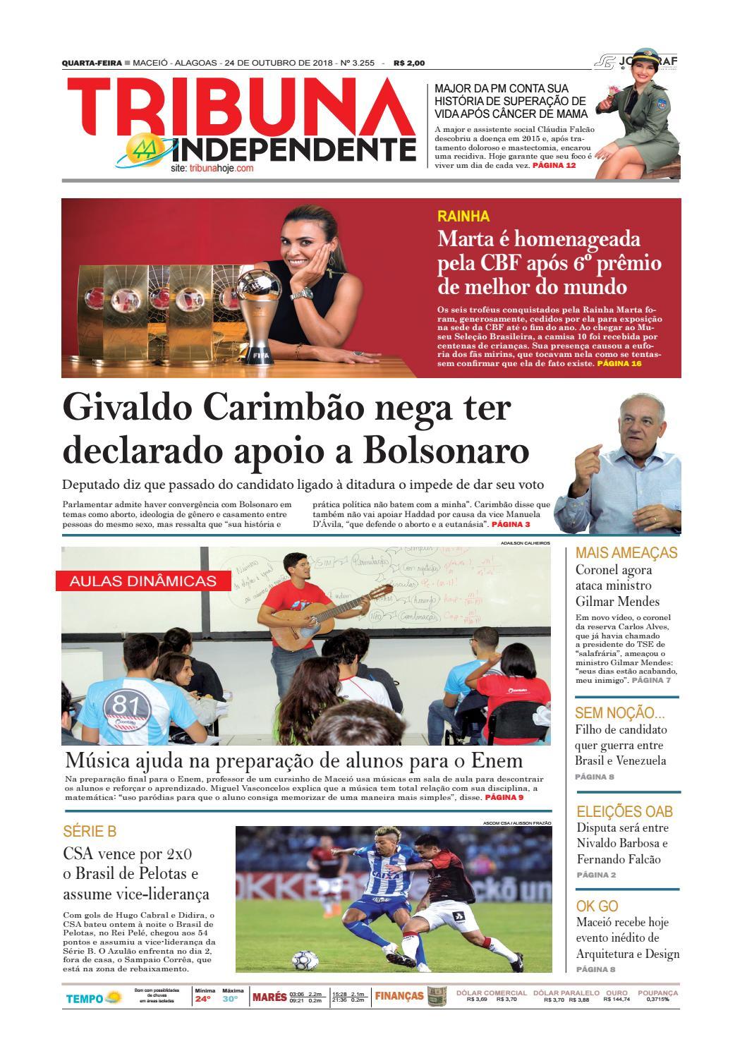 2bf51e9dea Edição número 3255 - 24 de outubro de 2018 by Tribuna Hoje - issuu