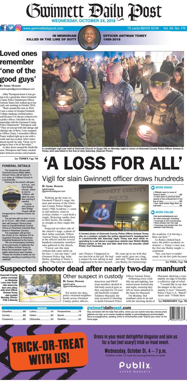 October 24, 2018 -- Gwinnett Daily Post by Gwinnett Daily