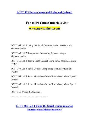 ECET 365 Inspiring Minds/newtonhelp com by equationgoat se65 43 - issuu