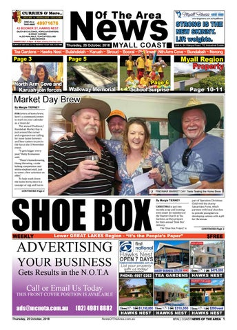 Myall Coast News Of The Area - 25 October 2018 by News Of