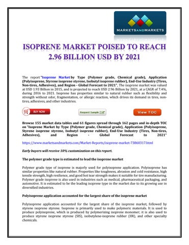 Isoprene Market 2021 by Rahul Roy - issuu