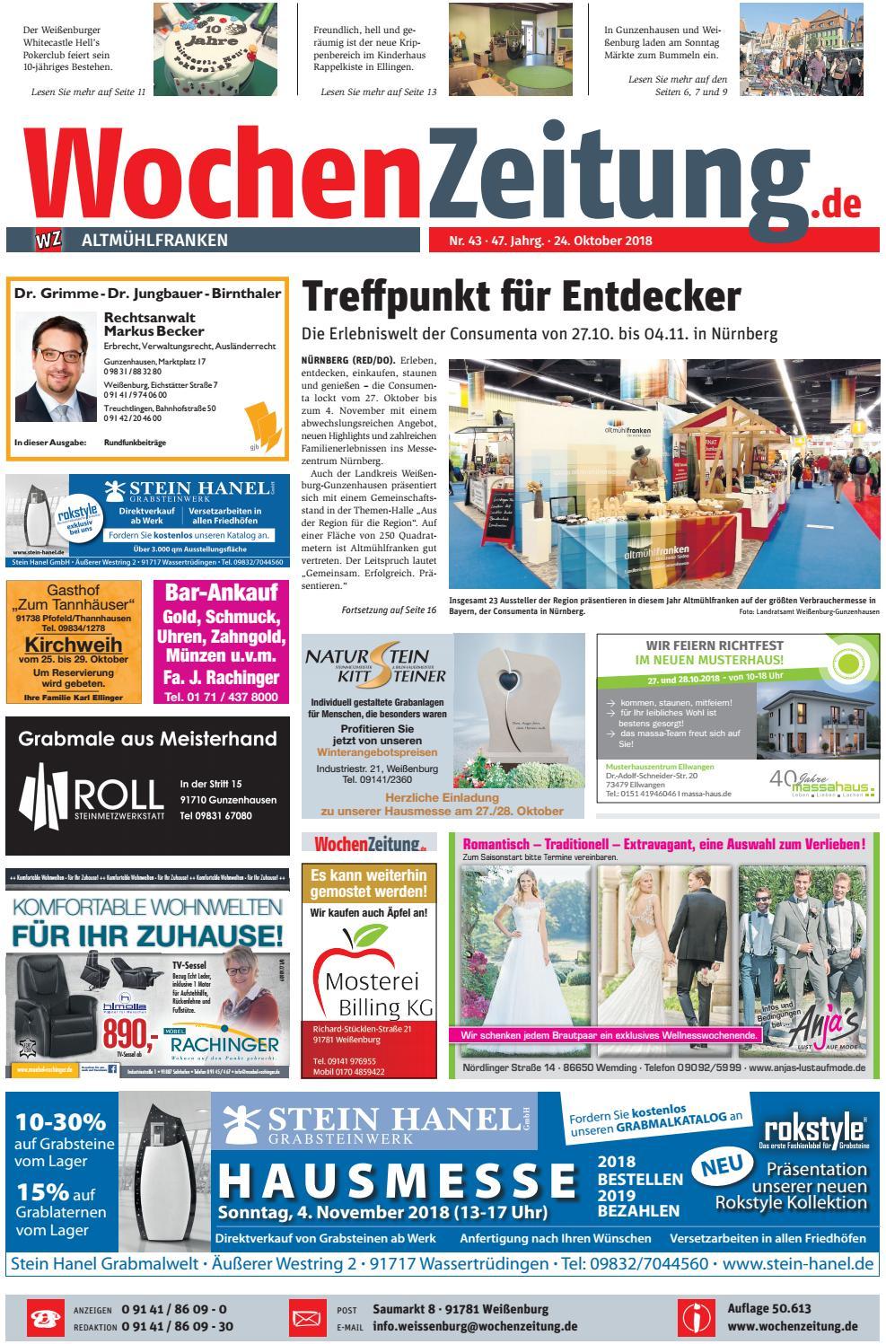 Wochenzeitung Altmuhlfranken Kw 43 18