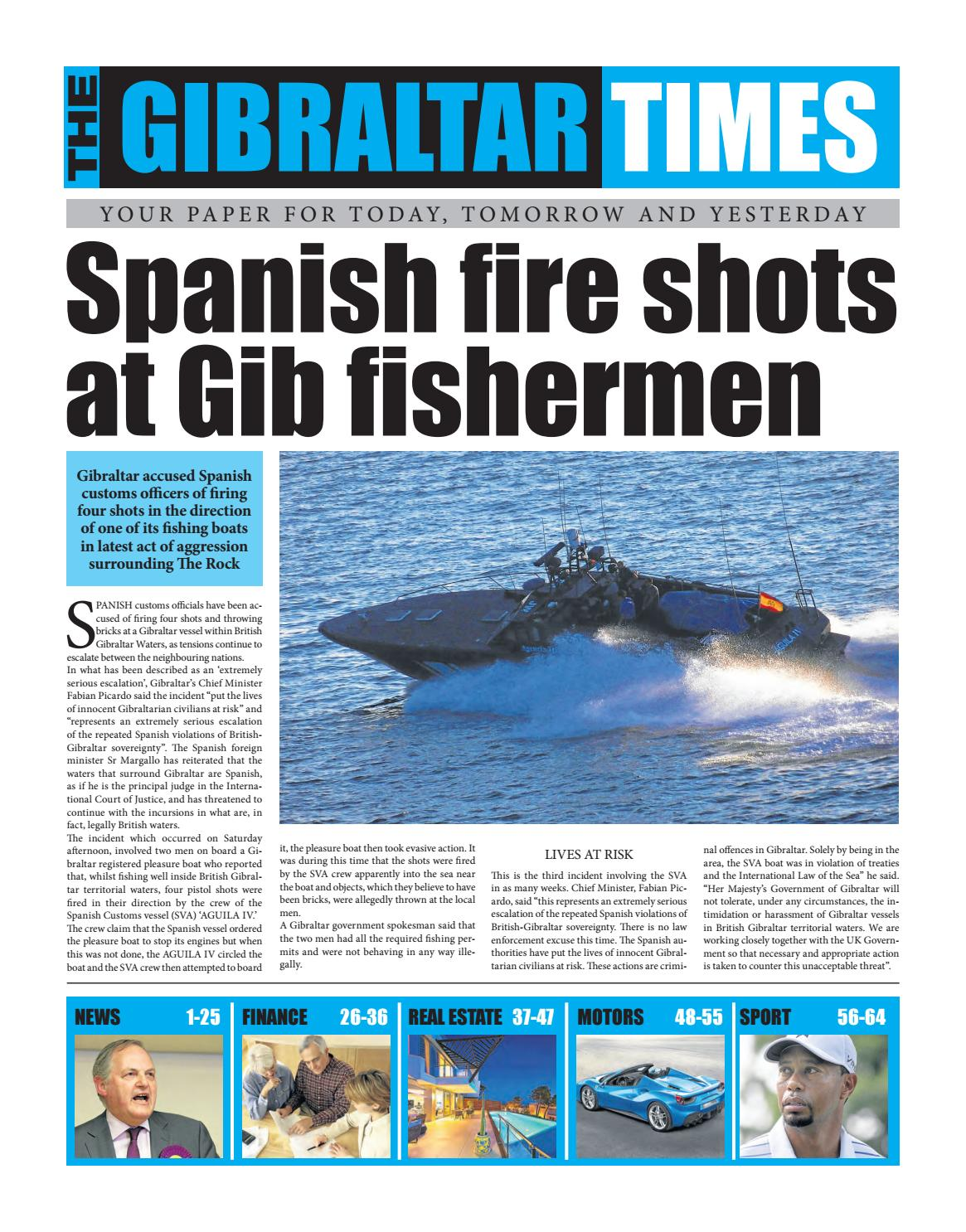 48f8411bcd15d Gibraltar Chronicle by ClearVision Marketing - issuu