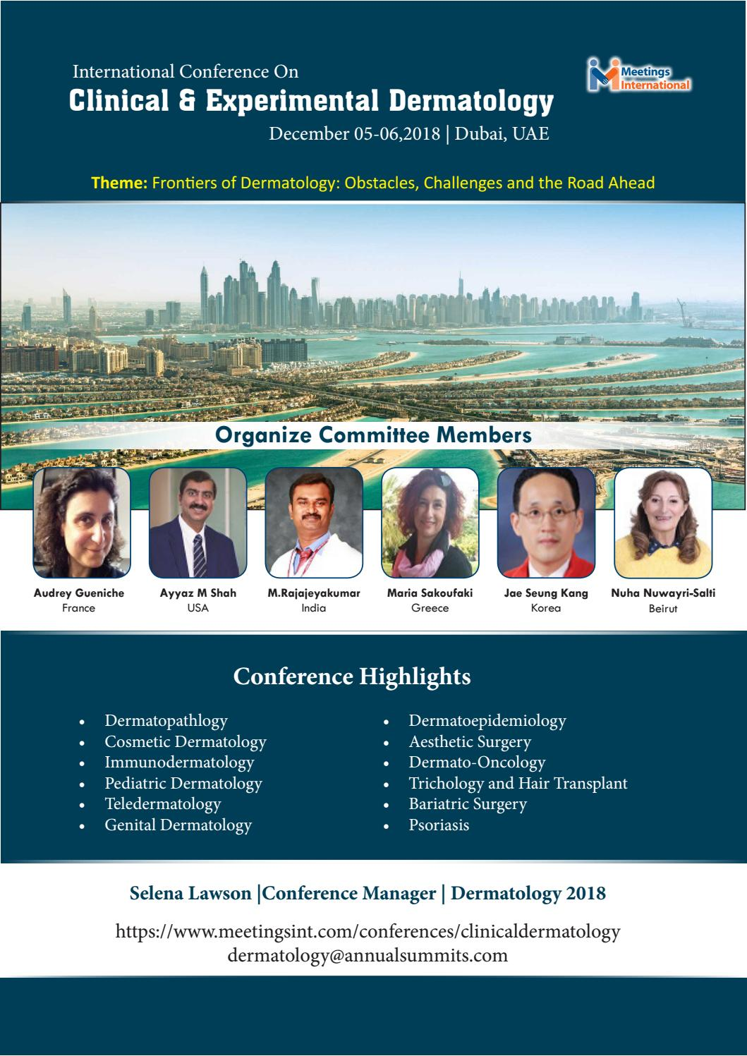 Dermatology Conference 2018 by Meetings International Pte