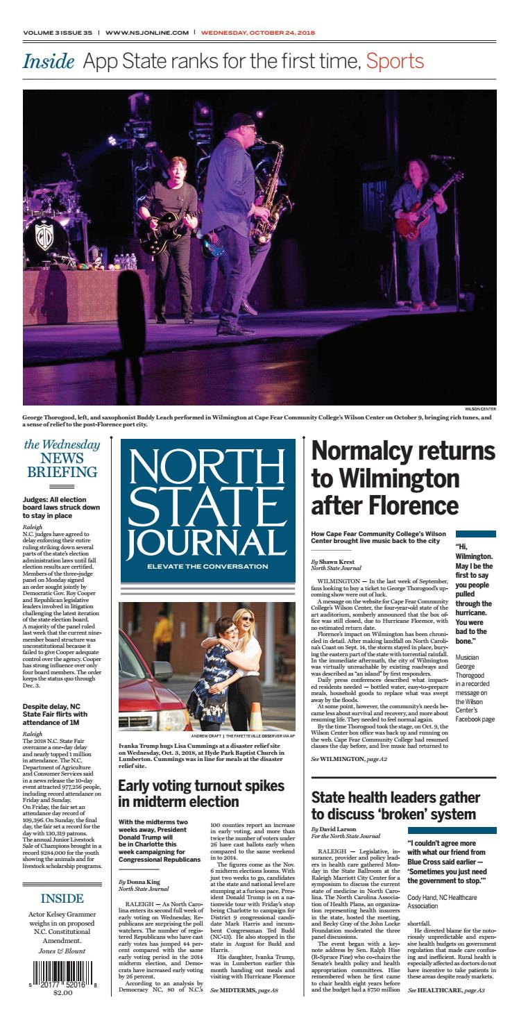 North State Journal Vol  3, Issue 35 by North State Journal