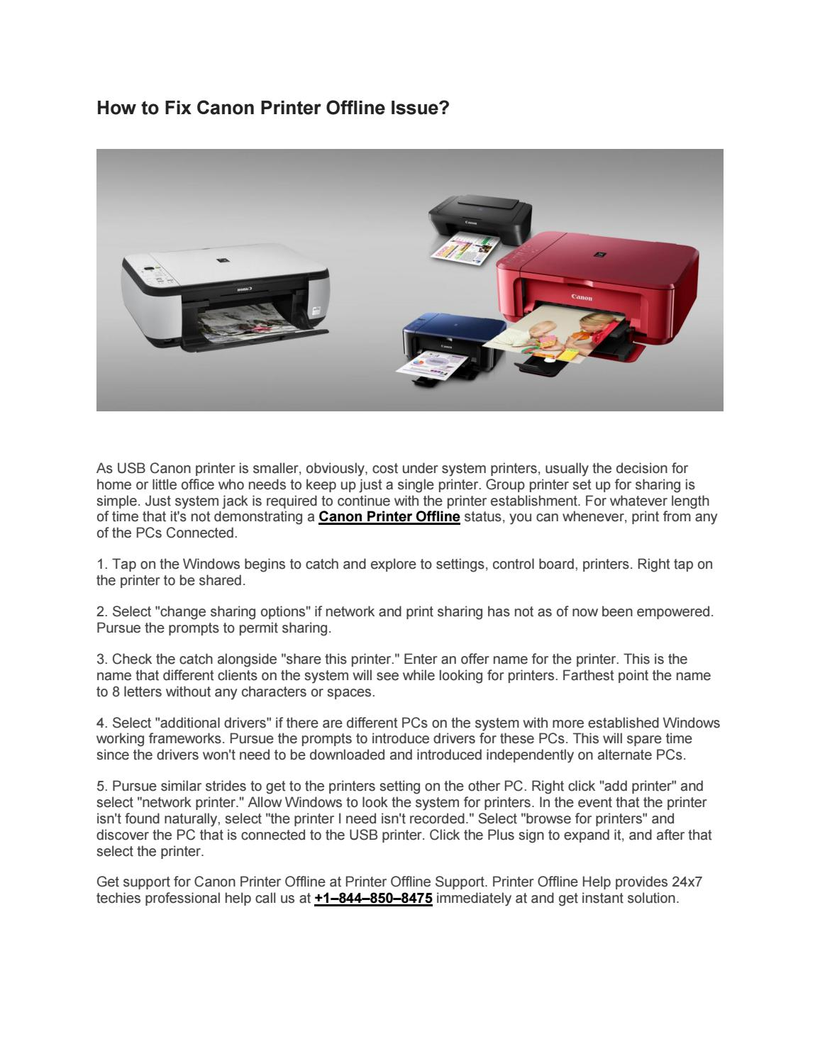 Immediate Solution for Canon Printer Offline by Ora Murphy
