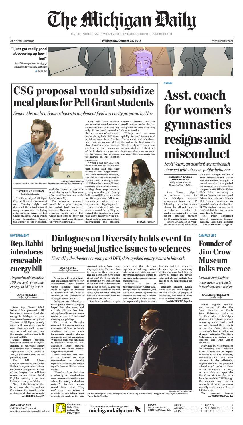 4dc0c887f02c3 2018-10-24 by The Michigan Daily - issuu
