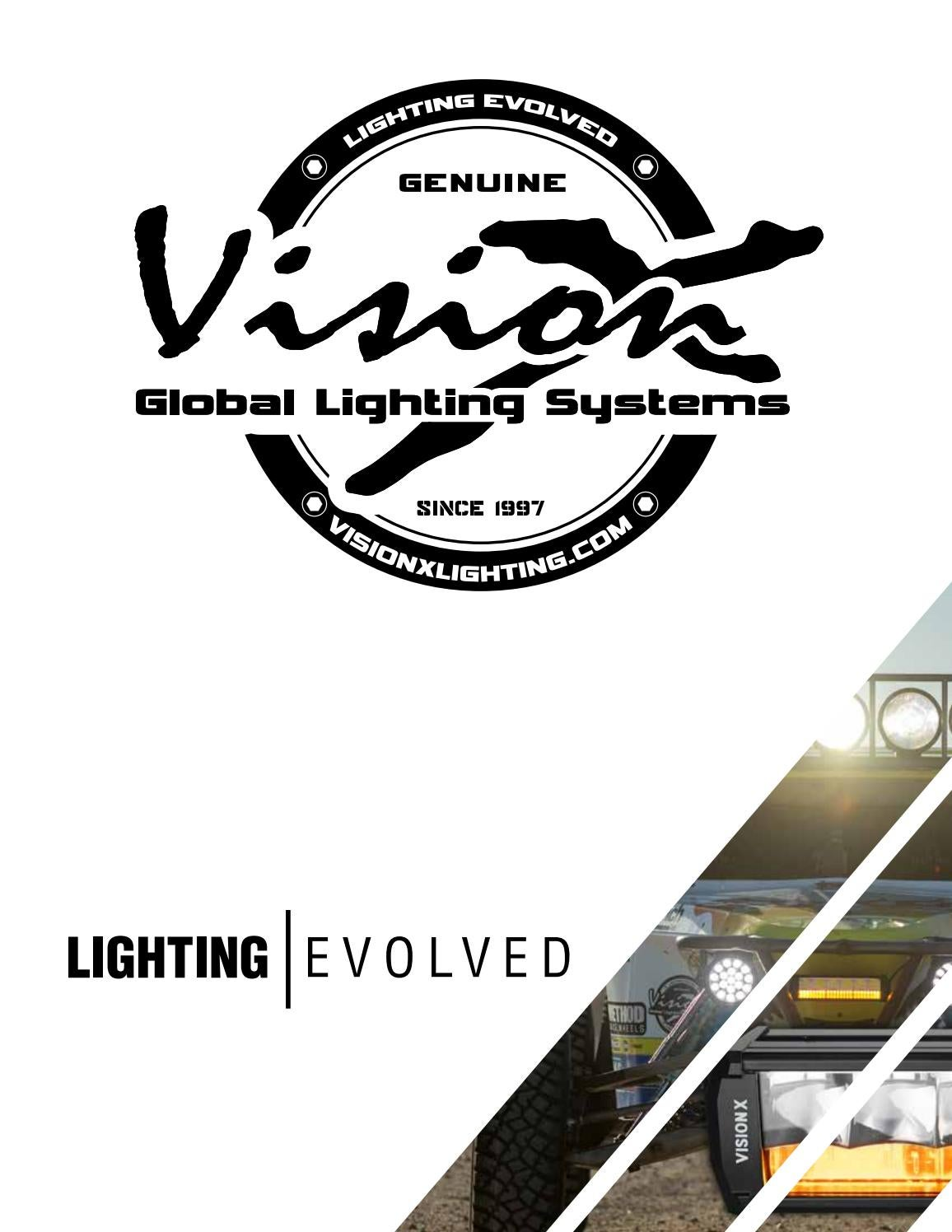 Vision X Lighting CG2-CPM310KIT CG2 Mini Light Cannon Series 3.7 3 LED Light Pair//Including Harness