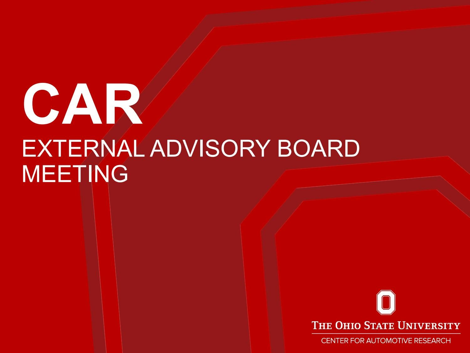 2018 External Advisory Board Meeting Presentation by Center