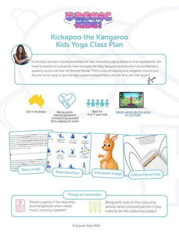 a04fd6c6b6 Kickapoo the Kangaroo Kids Yoga Class Plan In this story we learn how to  ask politely for help and avoid judging others on their appearance.