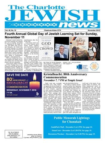 Charlotte Jewish News November 2018 by The Charlotte Jewish