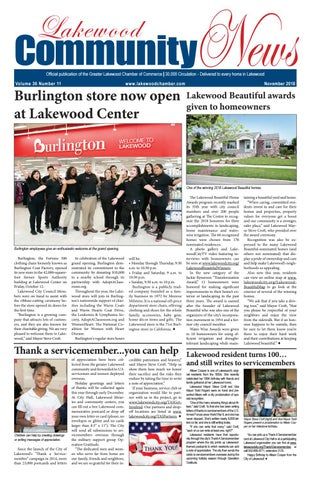 5eb82262e6 Lakewood Community News - November 2018 by Greater Lakewood Chamber ...