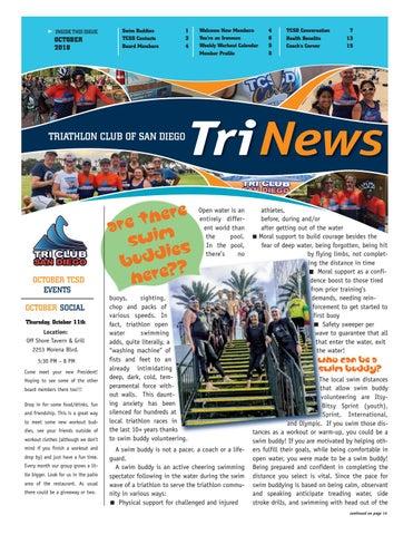 TCSD TriNews October 2018 by Triathlon Club of San Diego - issuu