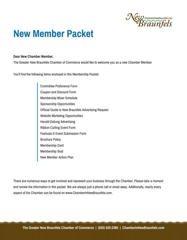2018 new member packet by New Braunfels Chamber - issuu