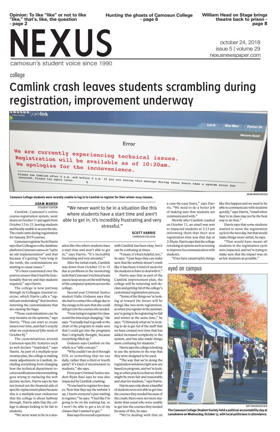 4ac801ceb6 Nexus newspaper October 24