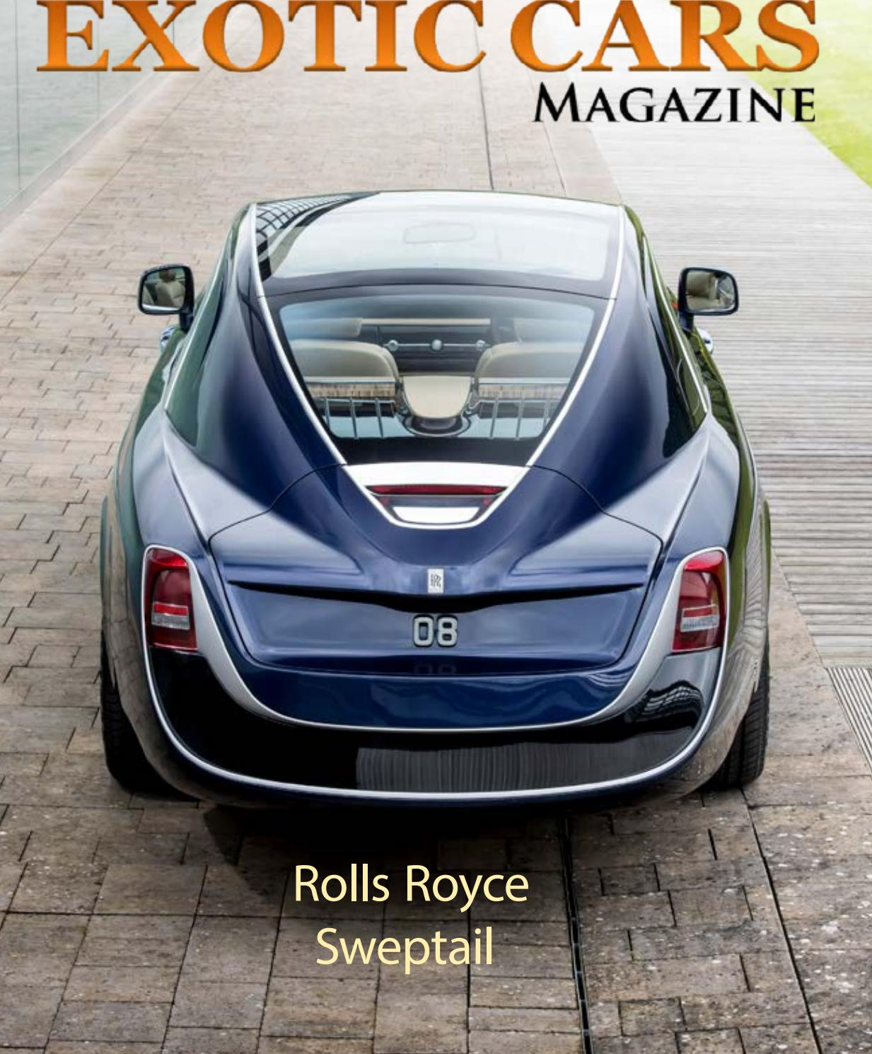 Exotic Cars Magazine April 2018 Edition By Exoticcarsmagazine Issuu