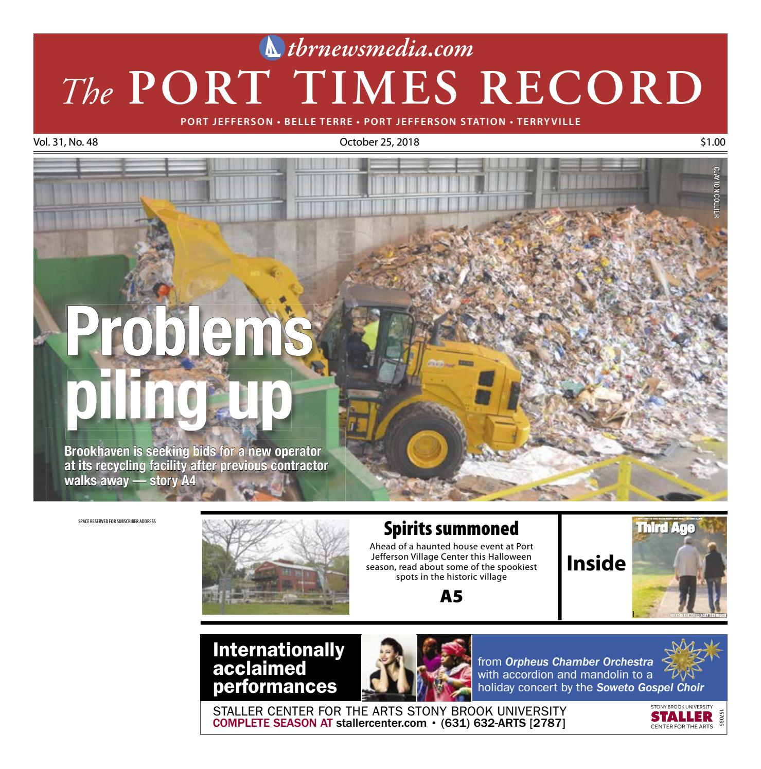 The Port Times Record October 25 2018 by TBR News Media issuu