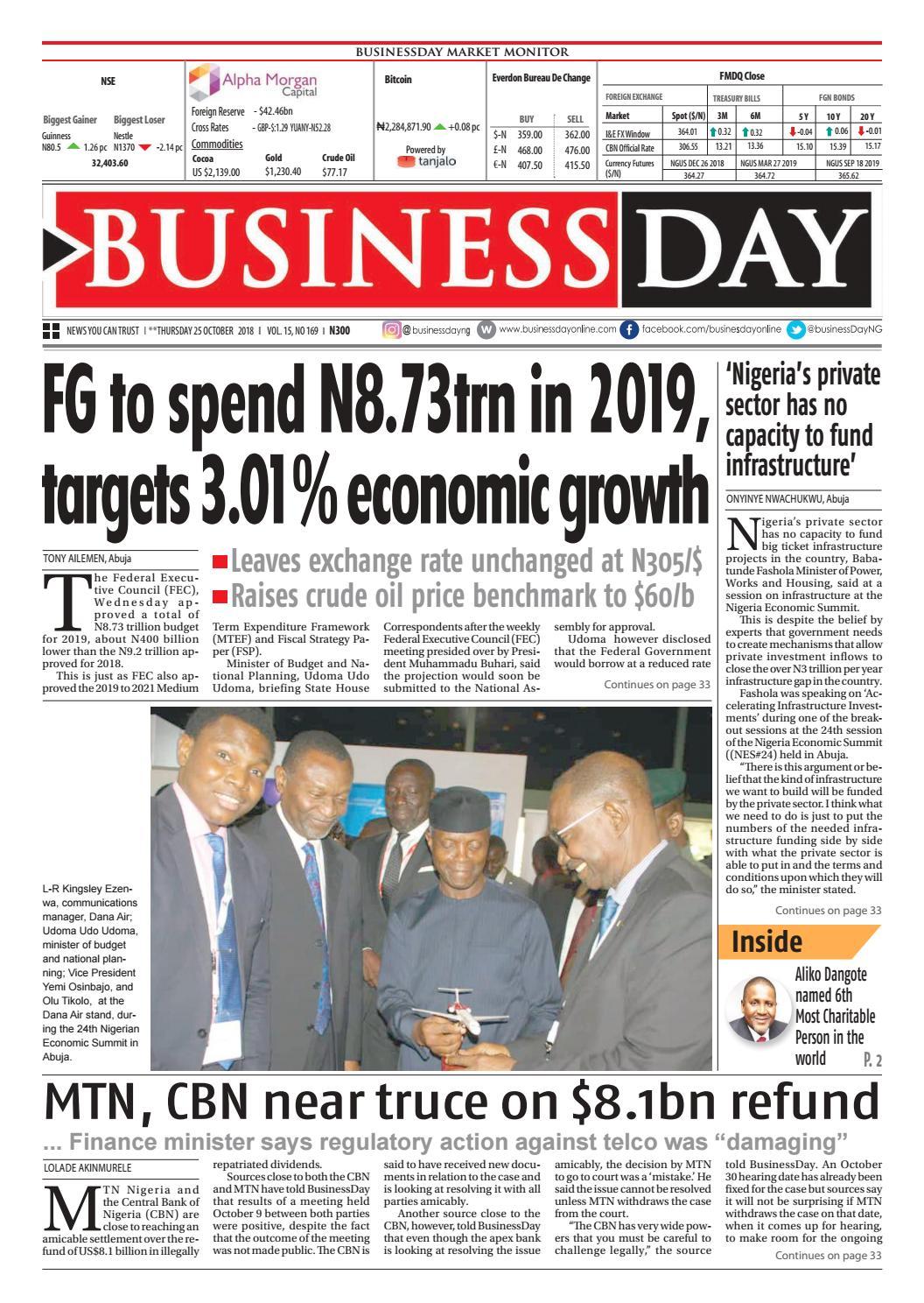 Businessday 25 Oct 2018 By Businessday Issuu