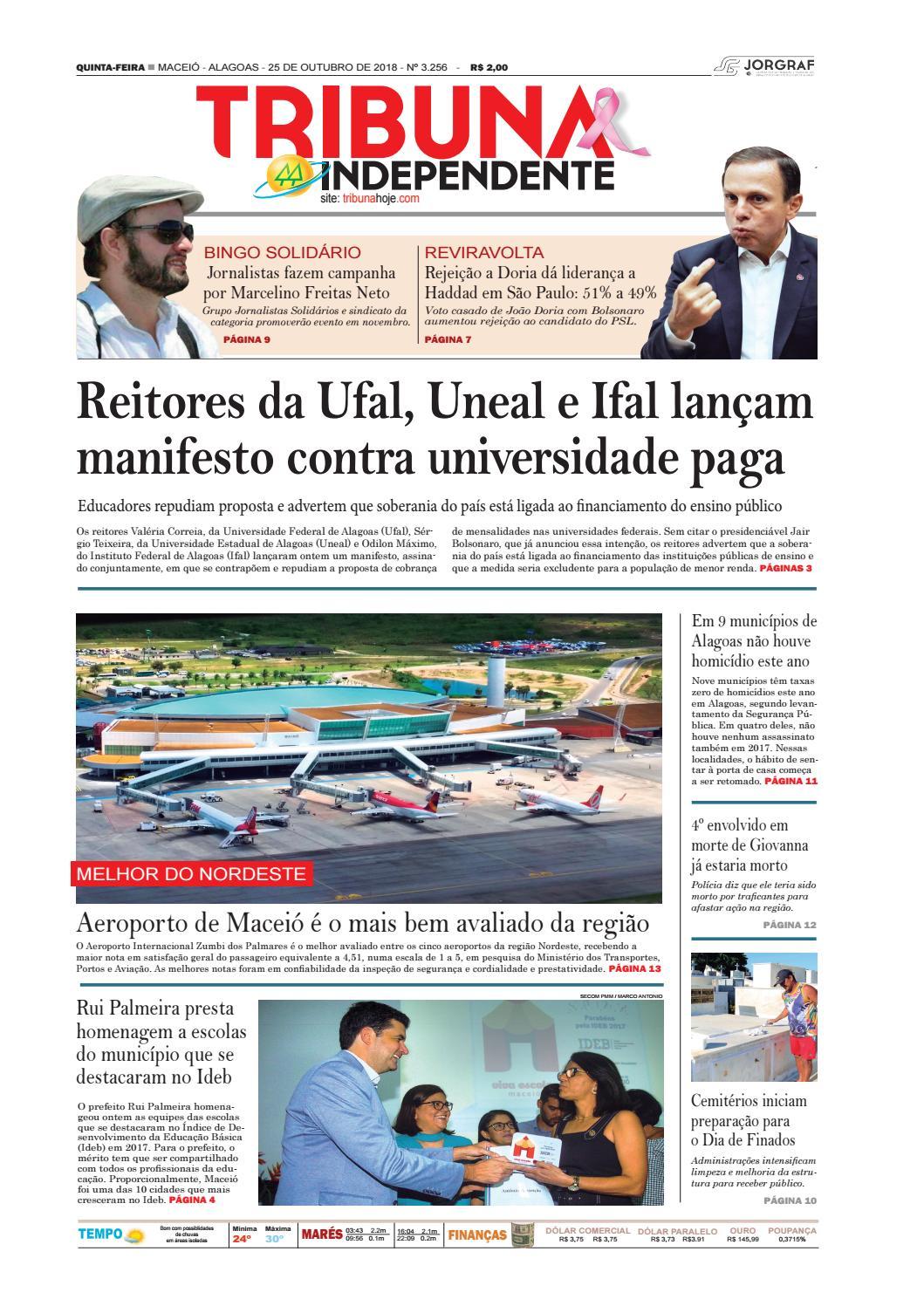 5fb871a6166 Edição número 3256 - 25 de outubro de 2018 by Tribuna Hoje - issuu