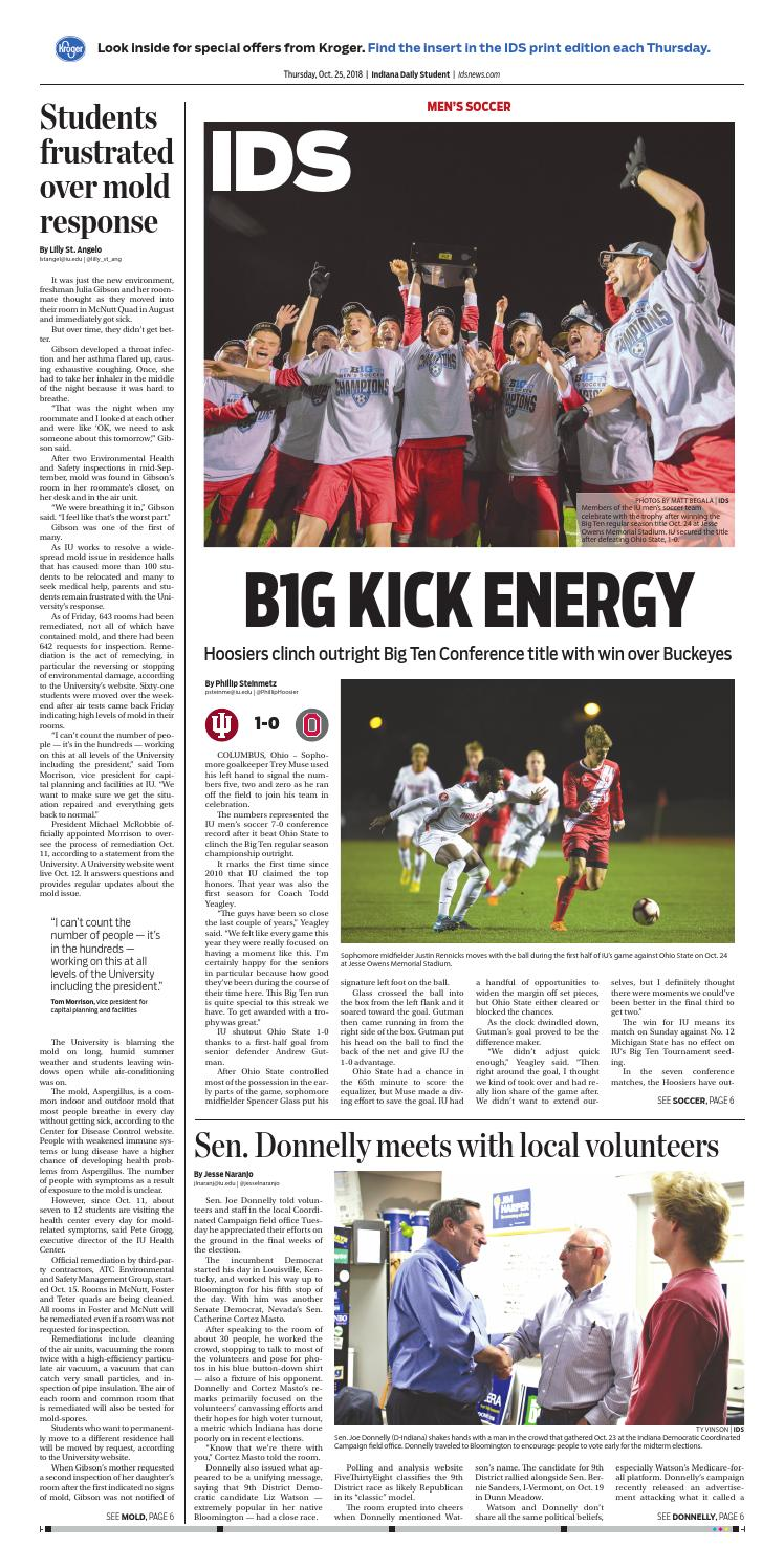 Thursday, October 25, 2018 by Indiana Daily Student