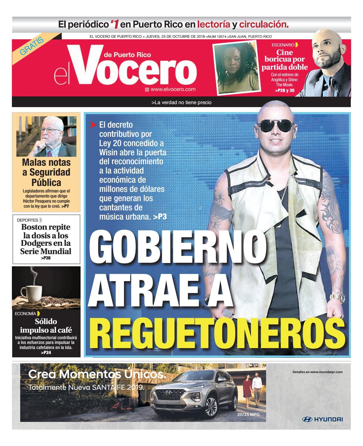 Edición del 25 de octubre de 2018 by El Vocero de Puerto Rico - issuu 7b01595726894