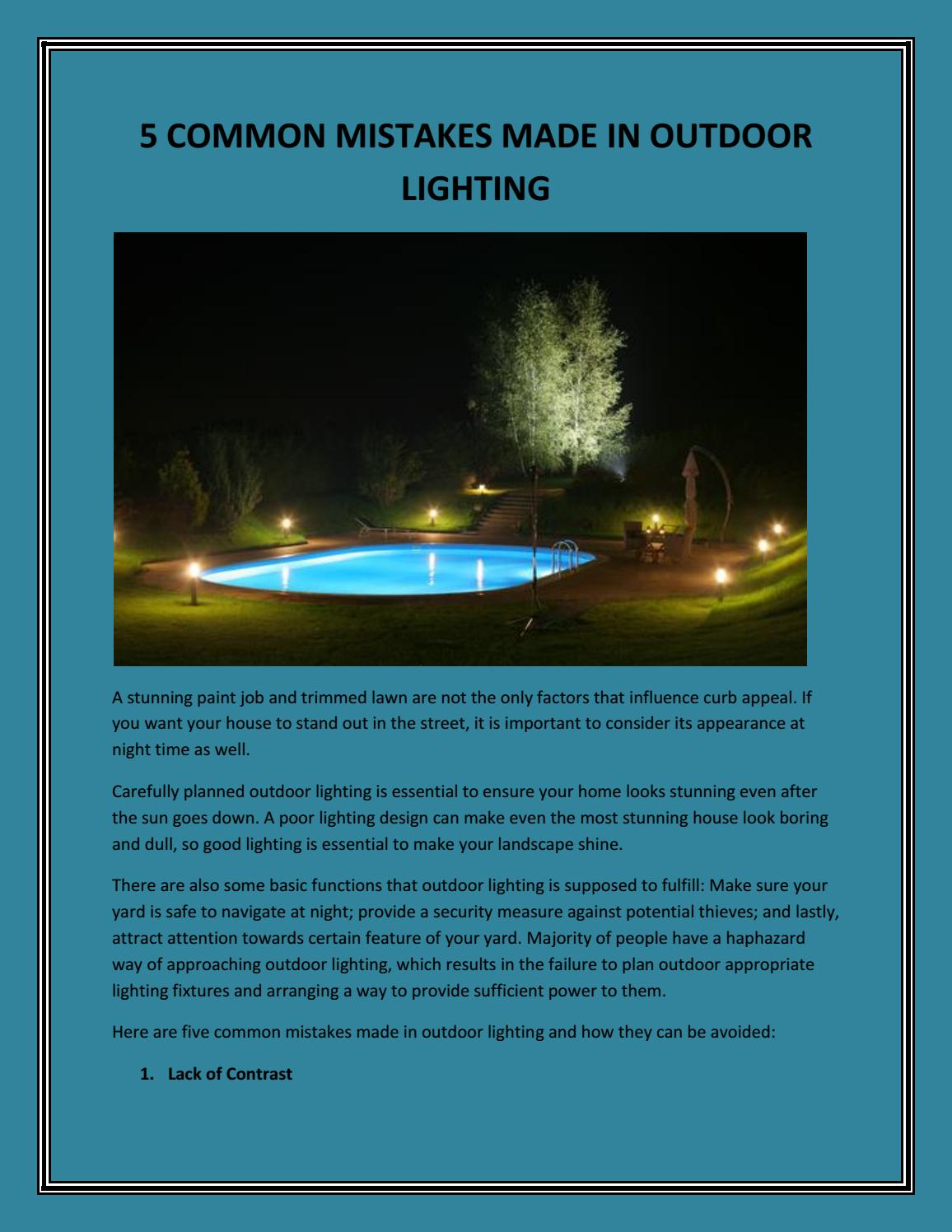 Outdoor Lighting By Knockout Landscape