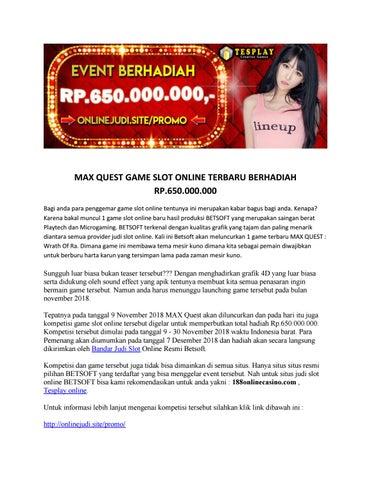 Tesplay Situs Judi Slot Online Terpercaya By Tesplay Online Issuu