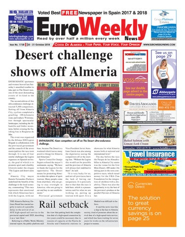 Euro Weekly News Costa De Almeria October October 25 31