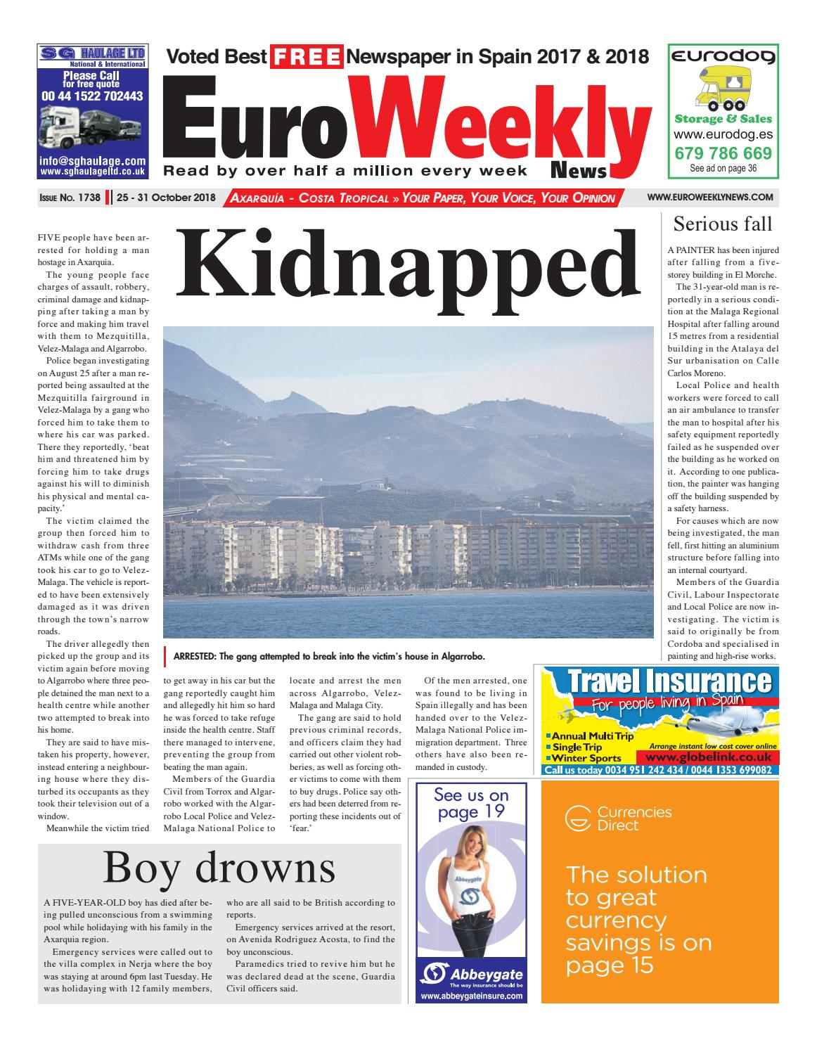Euro Weekly News Axarquia October 25 31 2018 Issue 1738