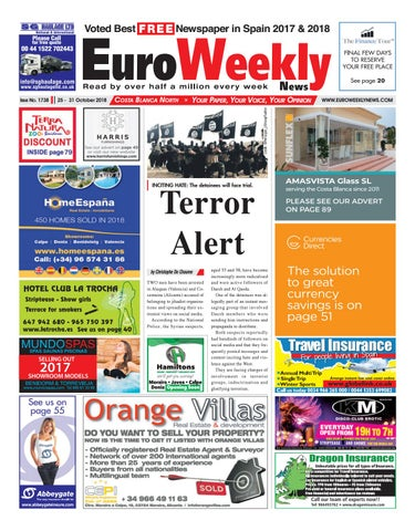Euro Weekly News Costa Blanca North October October 25