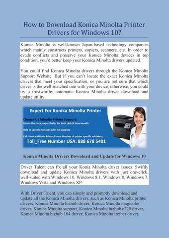 konica minolta c360 drivers free download