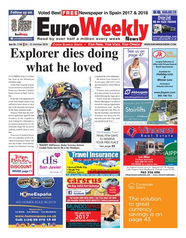 Euro Weekly News Costa Blanca South October October 25