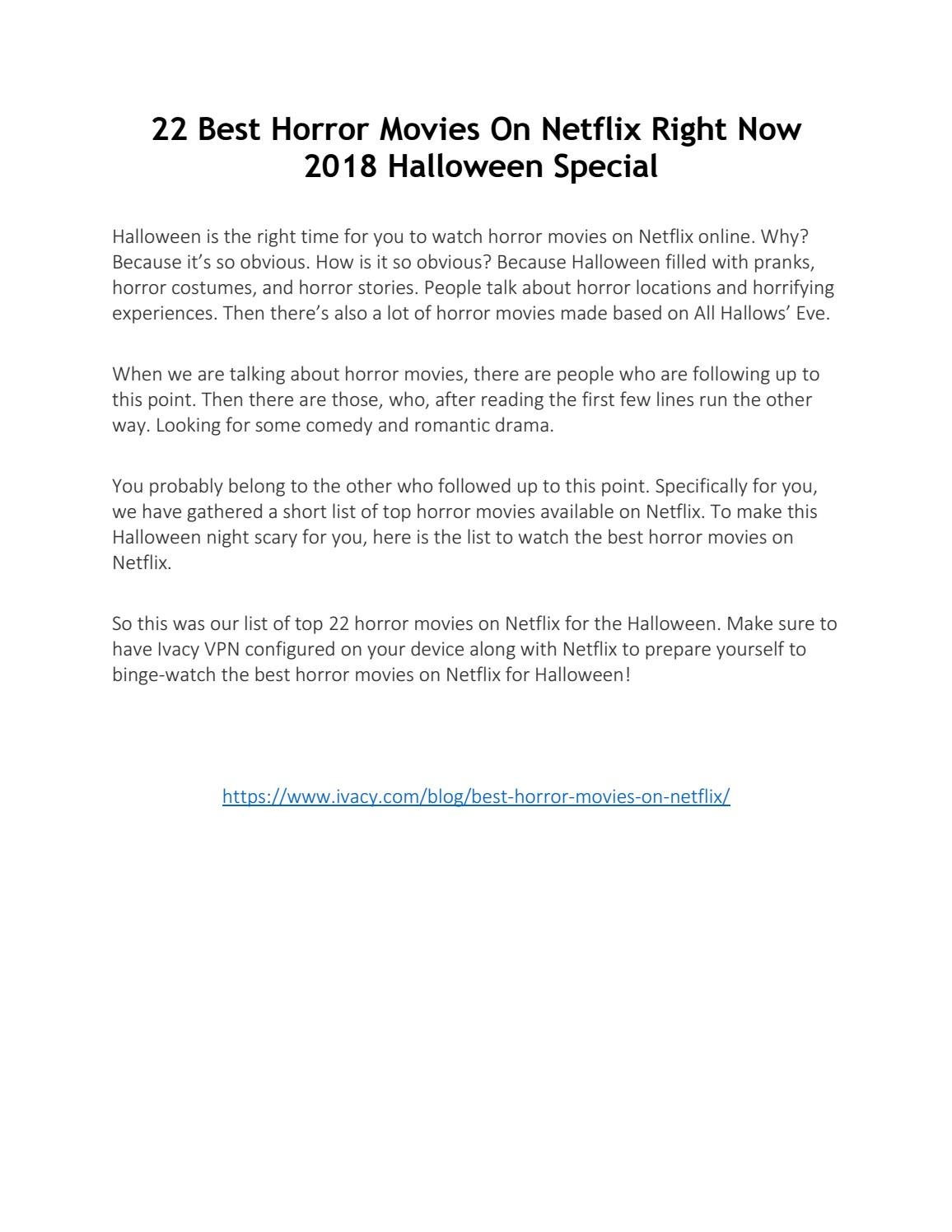 22 Best Horror Movies On Netflix Right Now – 2018 Halloween