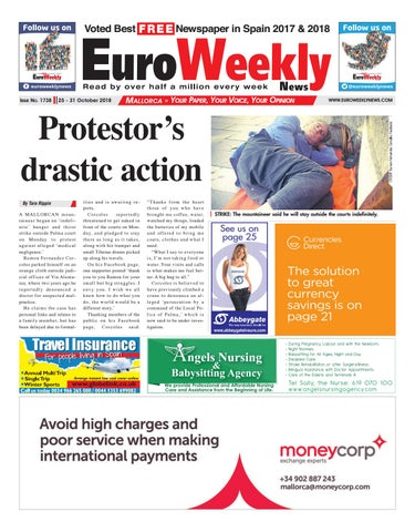 Euro Weekly News Mallorca October October 25 31 2018
