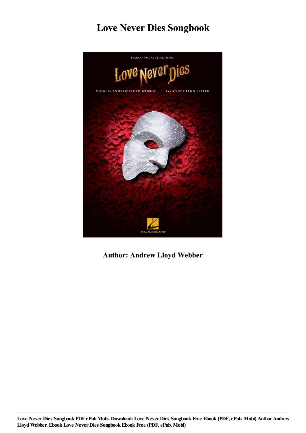 Love Never Dies Sheet Music Pdf