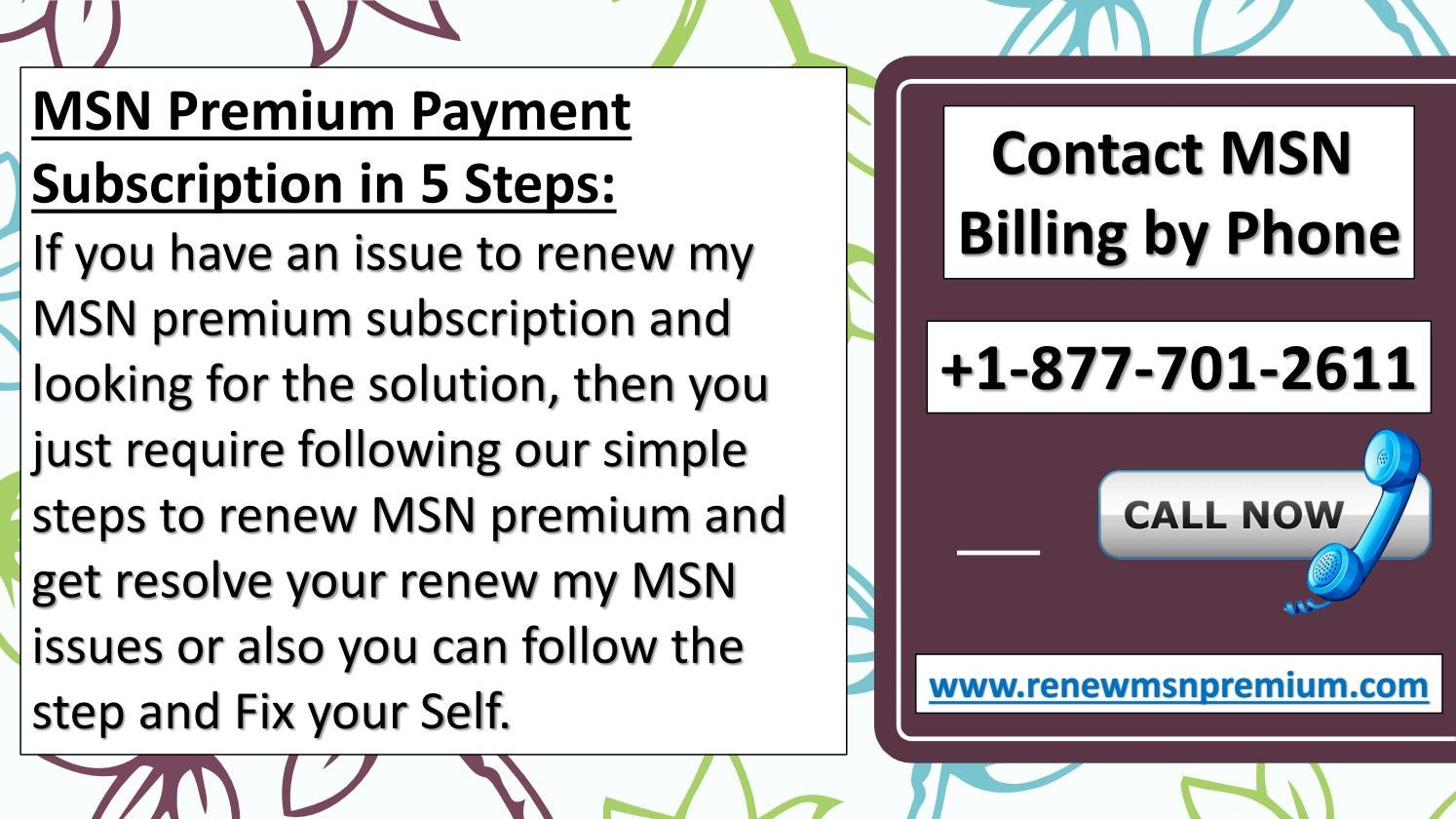 Contact MSN Billing by Phone | +1-877-701-2611 by grete2017 - issuu