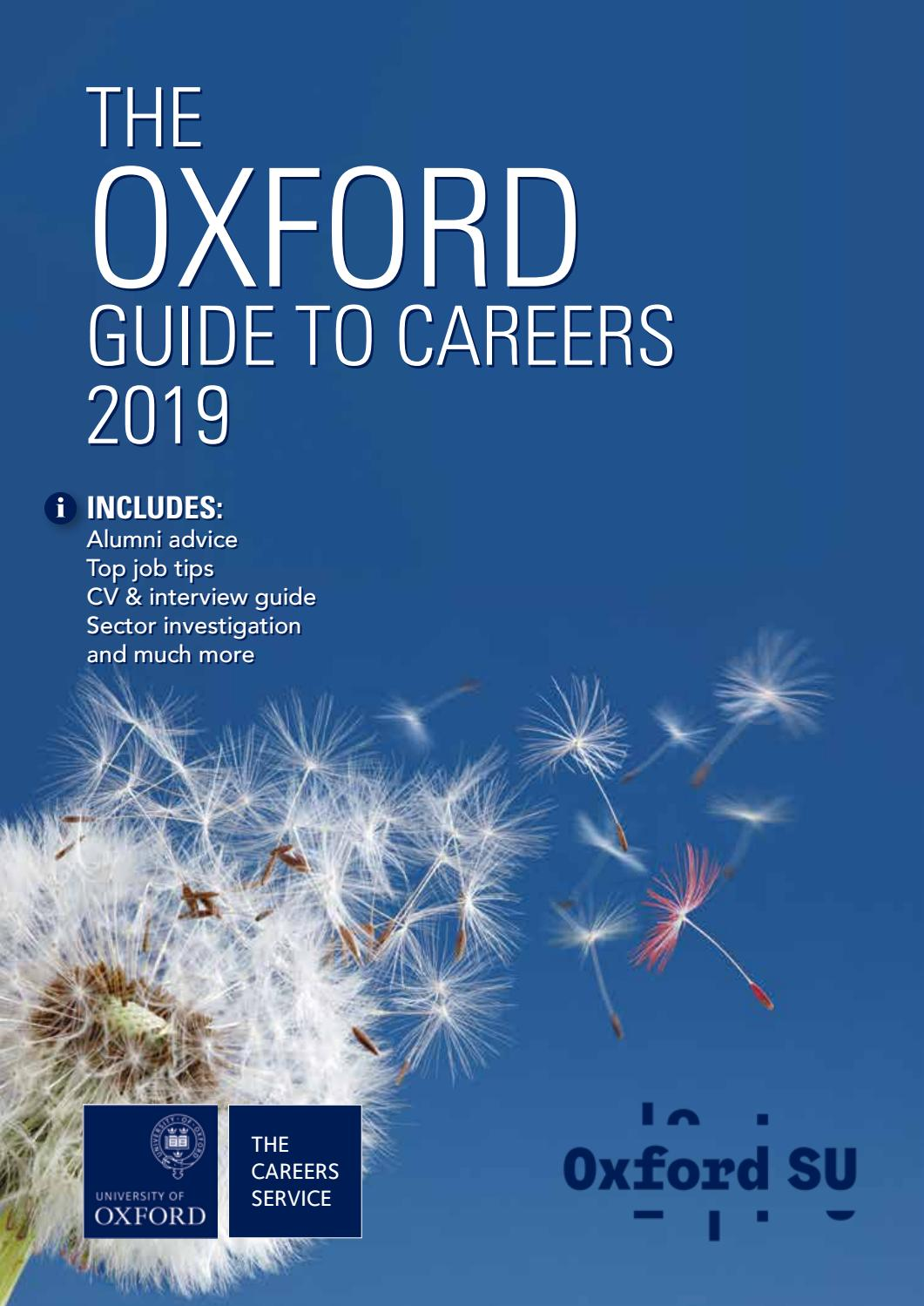 The Oxford Guide to Careers 2019 by Oxford University