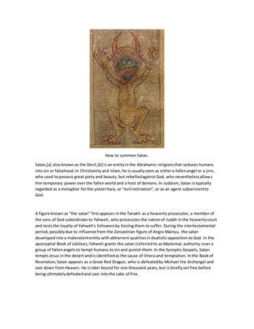 How to Summon Satan For Dummies by Emmanuel Baeza Herrera - issuu