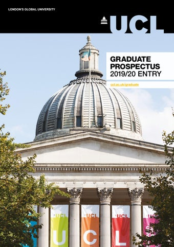 UCL Graduate Prospectus 2019/20 entry by UCL: London's