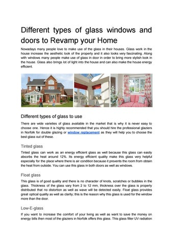 Different Types Of Glass Windows And Doors To Revamp Your Home By