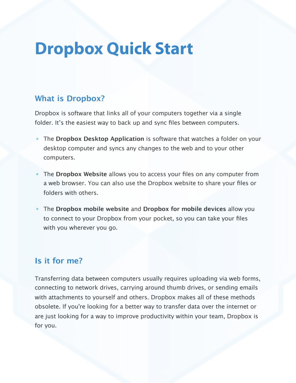 DROPBOX QUICK START by