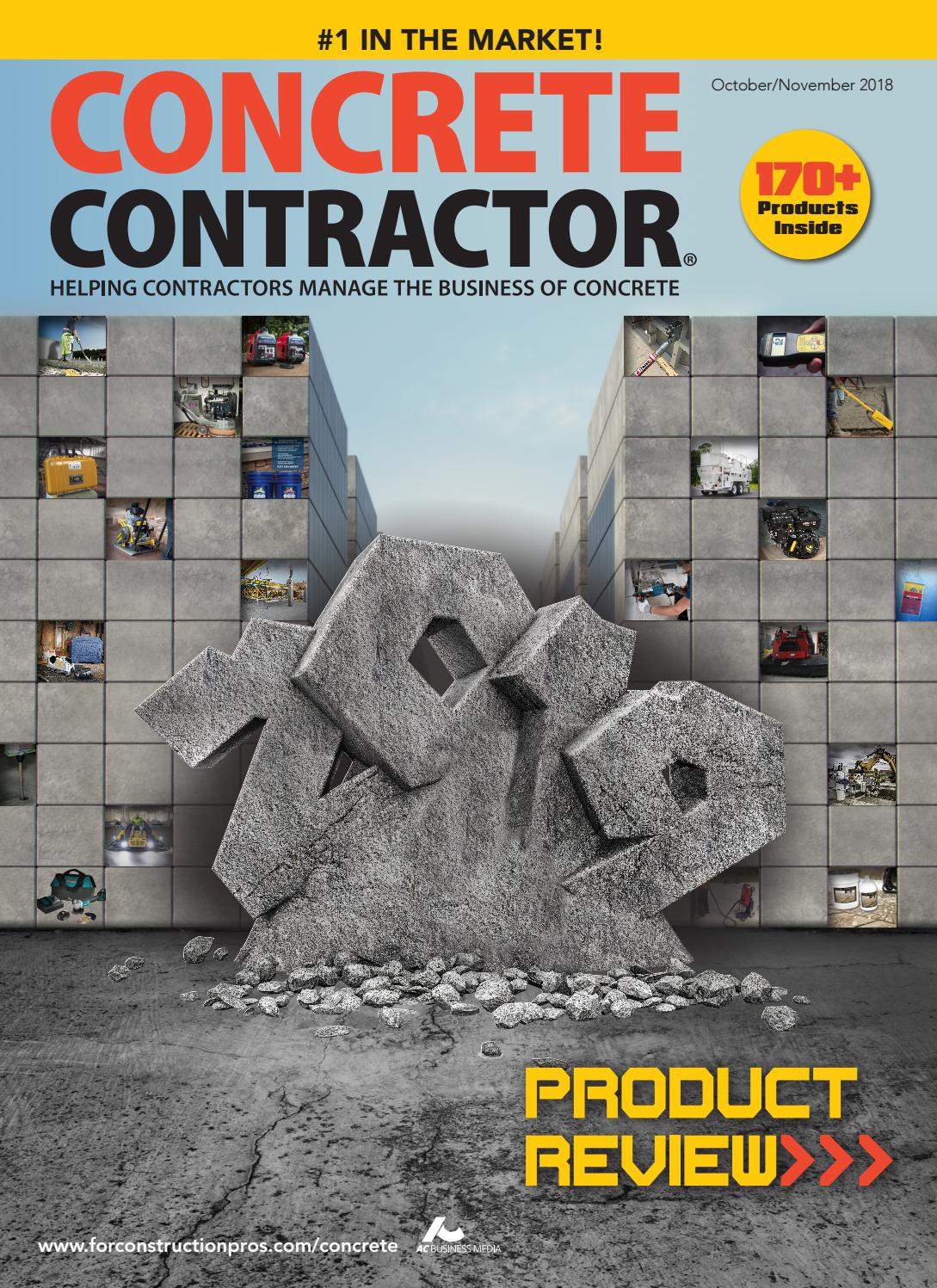 Concrete contractor october november 2018 by forconstructionpros com issuu