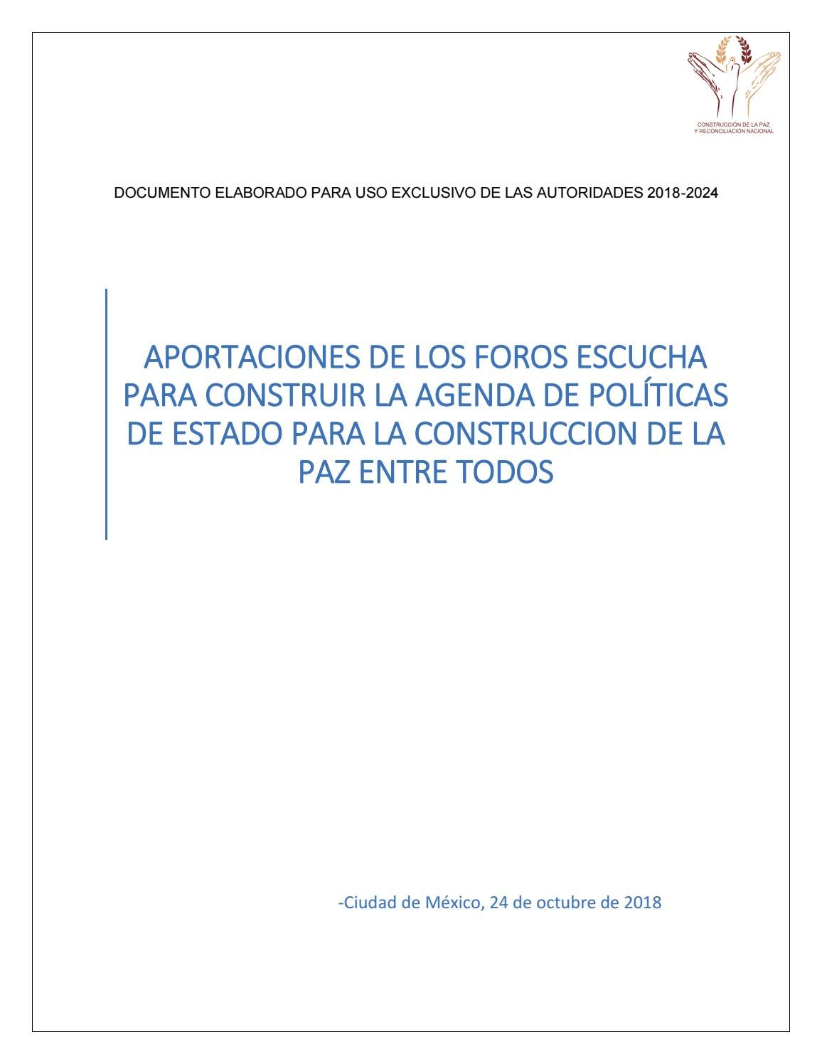 Aportaciones de los foros escucha by pajaropolitico - issuu 98c9bb2b8a3a