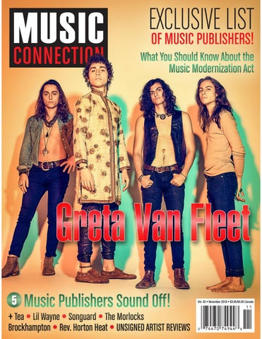 Music Connection November 2018 By Music Connection Issuu