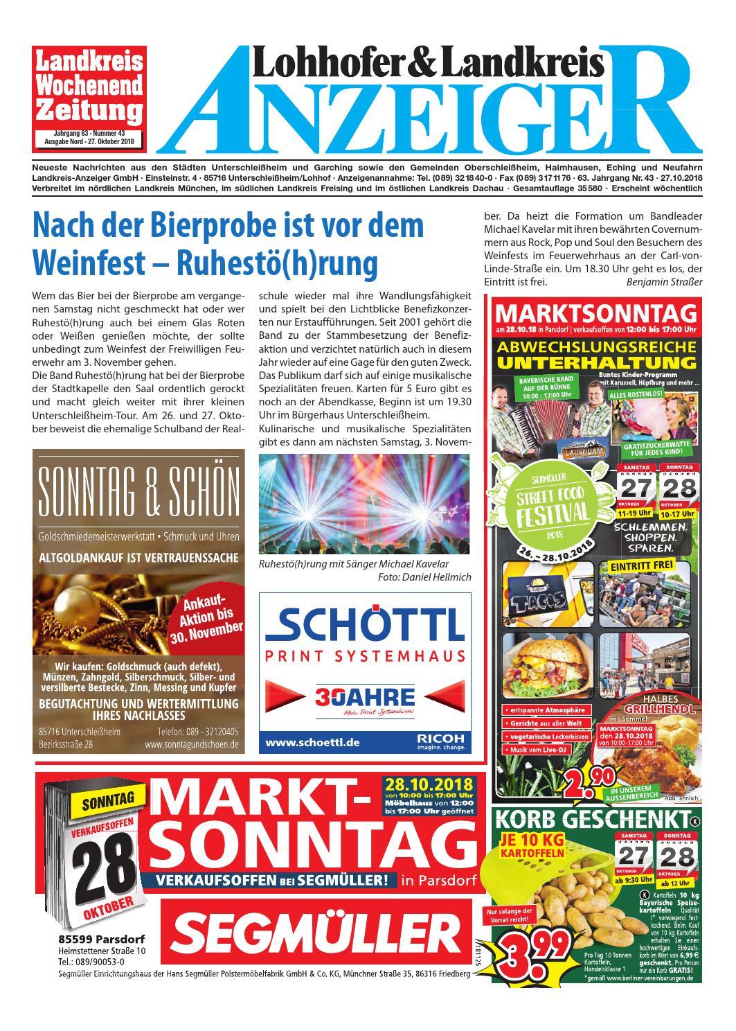 Lohhofer Landkreis Anzeiger 4318 By Zimmermann Gmbh Druck