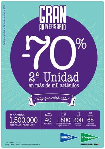 Catalogo Hipercor Gran Aniversario Del 70 Porciento De Descuento By Ofertas Supermercados Issuu