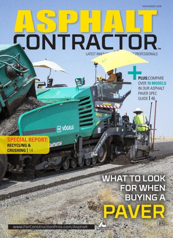 Asphalt Contractor November 2018 By Forconstructionproscom Issuu
